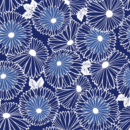 Pattern of chrysanthemum Vector