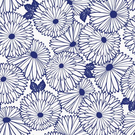 Pattern of chrysanthemum Ilustrace