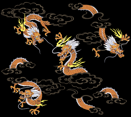tattoo traditional: Japanese dragon
