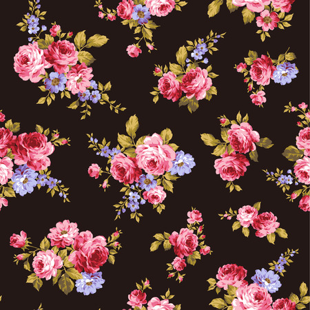 floral seamless pattern: pattern of rose, Illustration