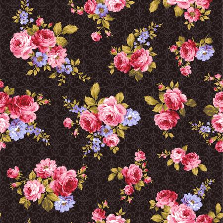 vintage leaf: pattern of rose, Illustration