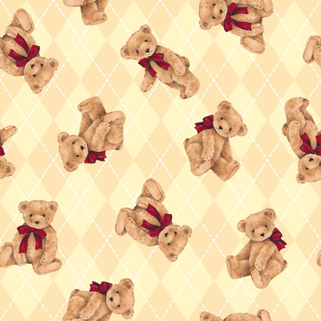 mischief: Pattern of bear Stock Photo