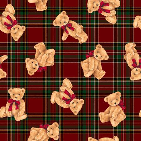 amiability: Pattern of bear Stock Photo
