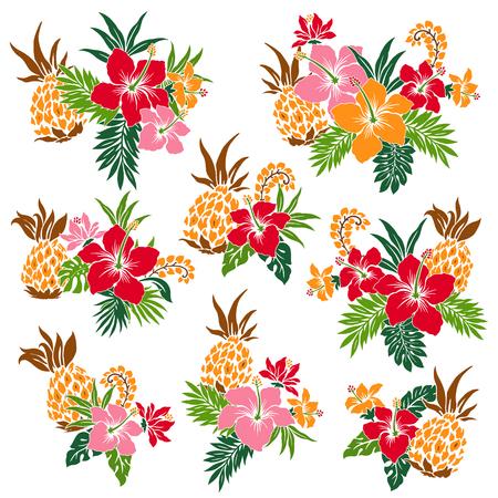 vigorous: illustration of Hibiscus Illustration