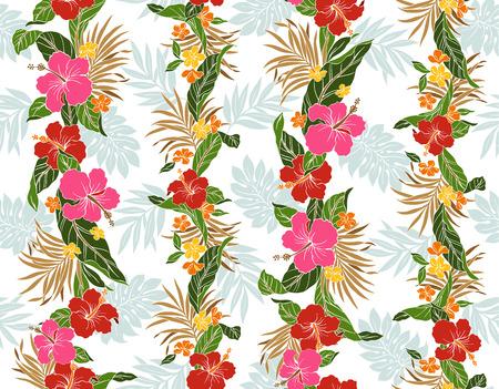 resplendent: pattern of Hibiscus