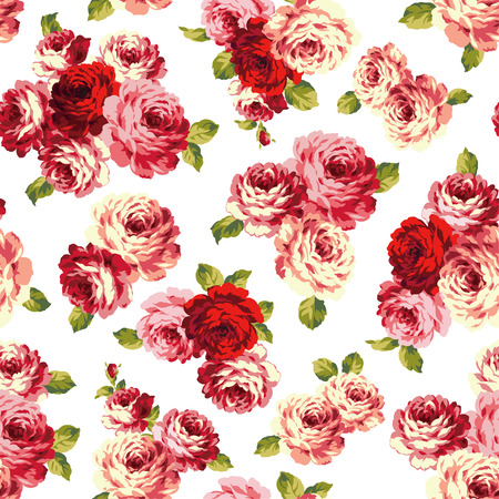 corsage: pattern of rose, Illustration