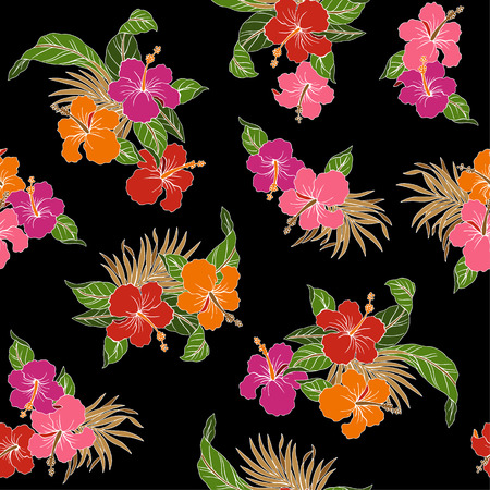 florid: pattern of Hibiscus