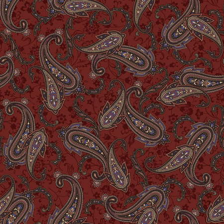 pattern paisley 矢量图像