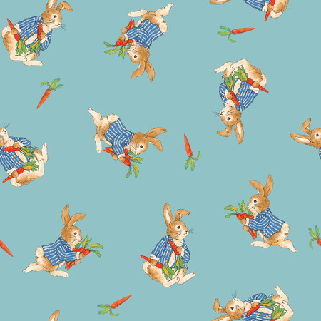 mischief: Pattern of rabbit Stock Photo