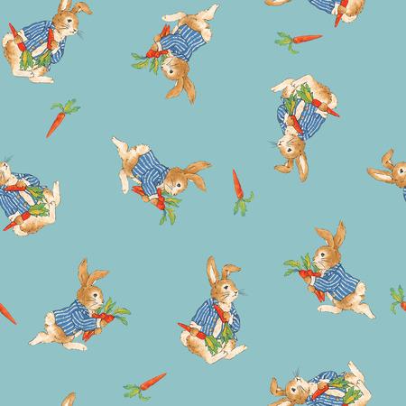 whim: Pattern of rabbit Stock Photo