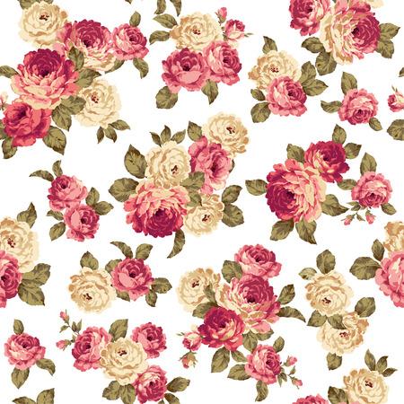 feminine floral flower: pattern of rose, Illustration