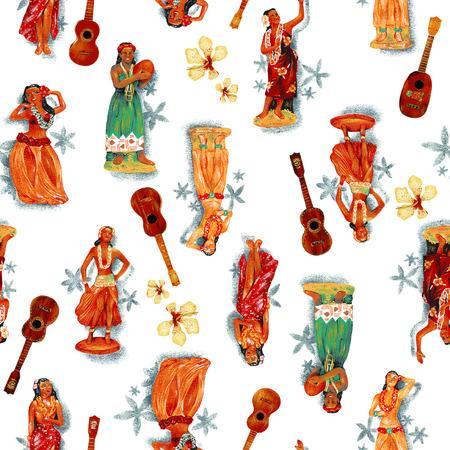 Hula dance doll, Stock Photo