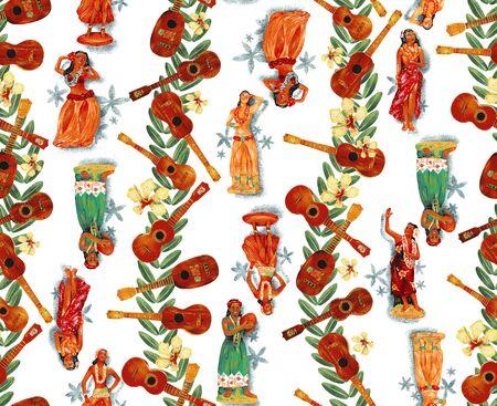 exotic dancer: Hula dance doll, Stock Photo