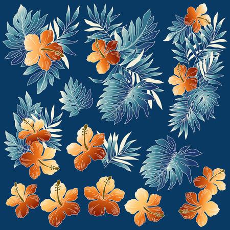 resplendent: illustration of Hibiscus Illustration