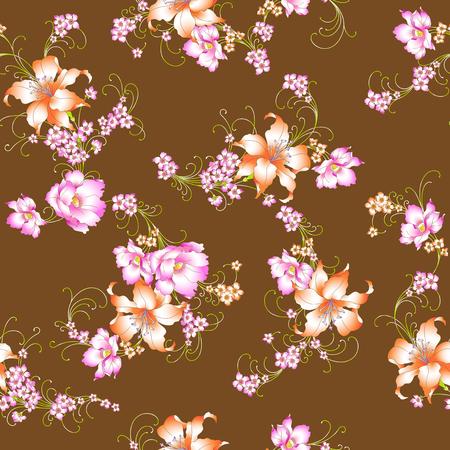 resplendent: lily pattern Stock Photo