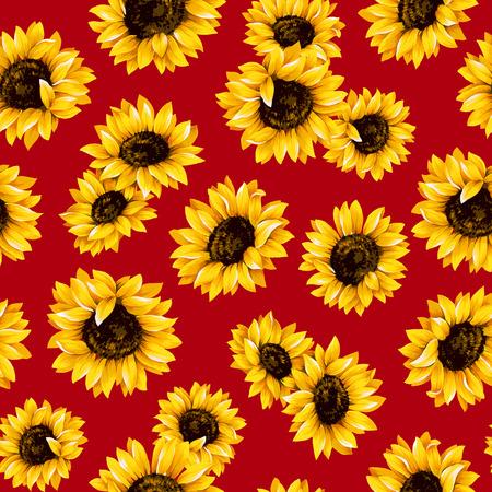 Sunflower pattern Фото со стока