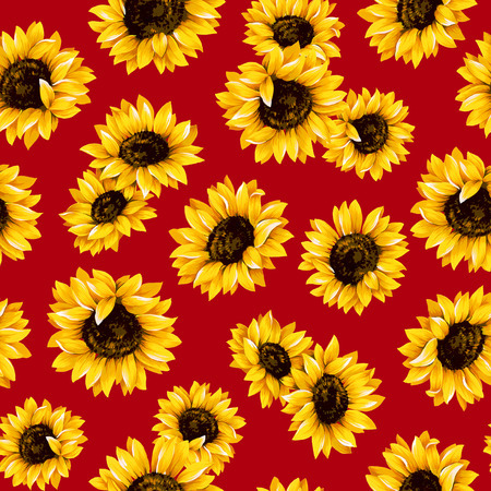 Sunflower pattern Banco de Imagens