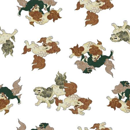 berserk: Japanese lion Stock Photo