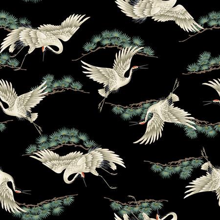 migrating birds: Japanese crane Stock Photo