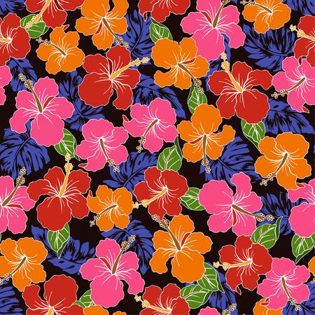 vigorous: pattern of Hibiscus