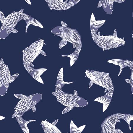 graphic print: Japanese carp Illustration