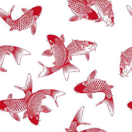 japanese background: Japanese carp Illustration