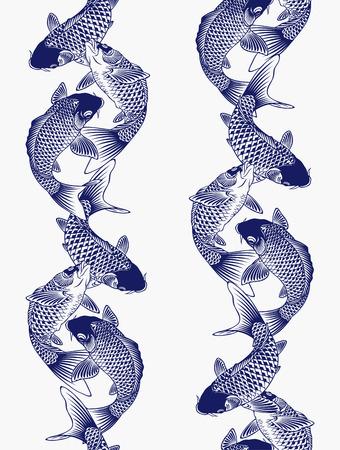 jumping carp: Japanese carp Illustration