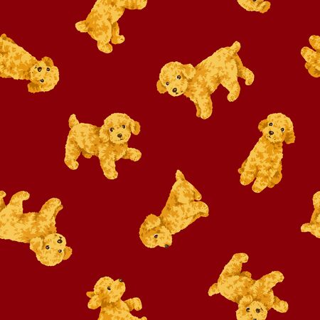 mischief: Dog pattern Stock Photo
