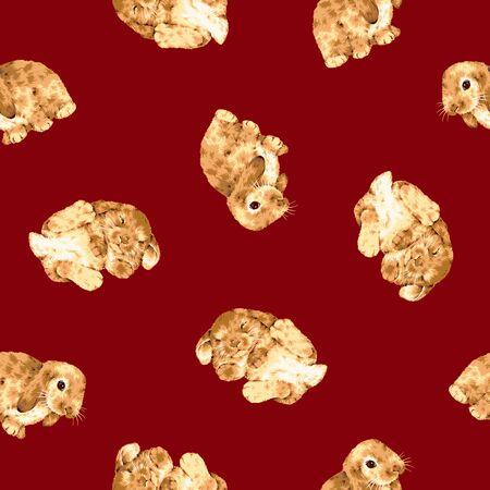 enjoyable: Rabbit pattern Stock Photo