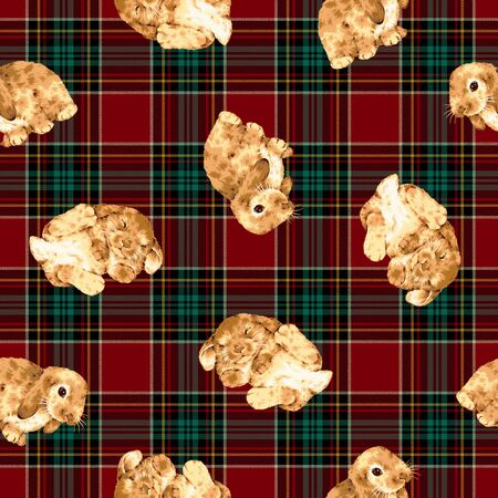 mischief: Rabbit pattern Stock Photo