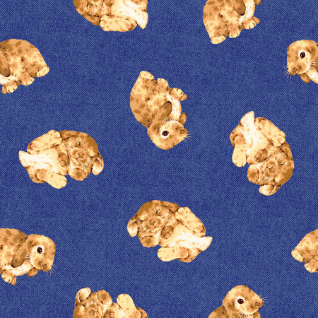 whim: Rabbit pattern Stock Photo