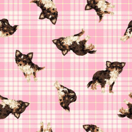 amiability: Dog pattern Stock Photo
