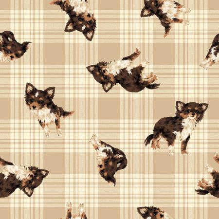 Dog pattern Foto de archivo