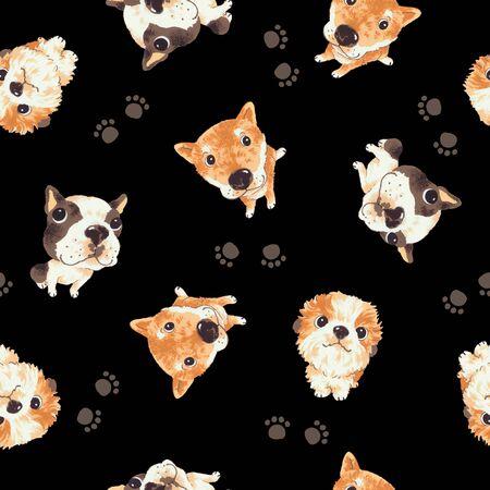 mischief: Dog pattern Stock Photo