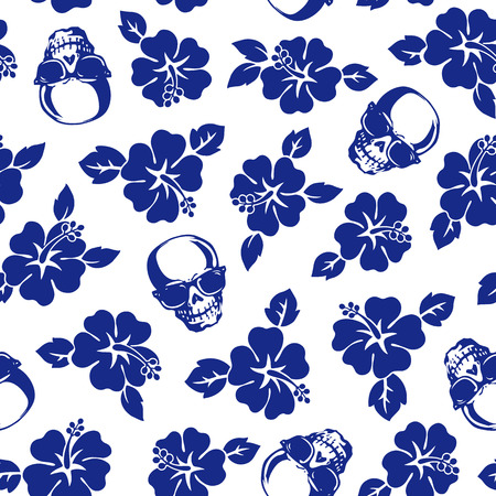 Hibiscus skull pattern