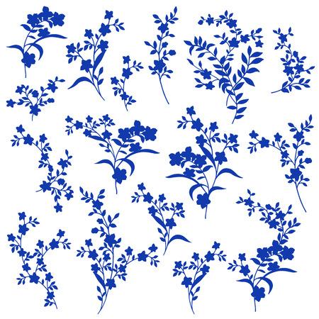 simplification: Flower illustration Illustration