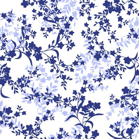 花のパターン  イラスト・ベクター素材