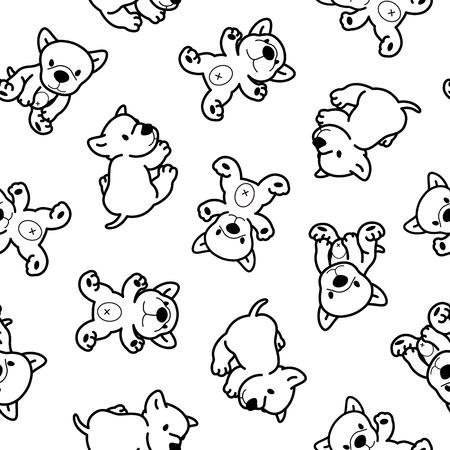amiability: Dog pattern Illustration