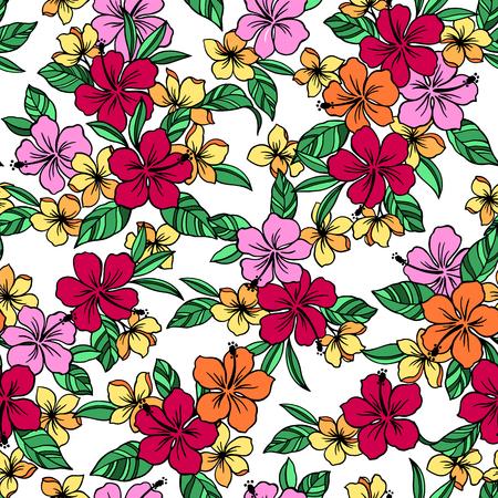 tahiti: Hibiscus pattern