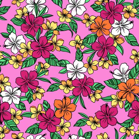 florid: Hibiscus pattern