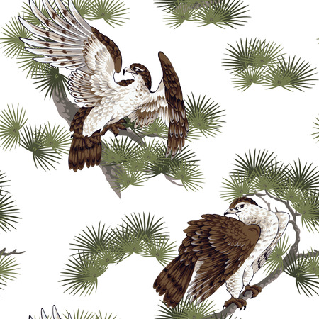Japanese painting hawk