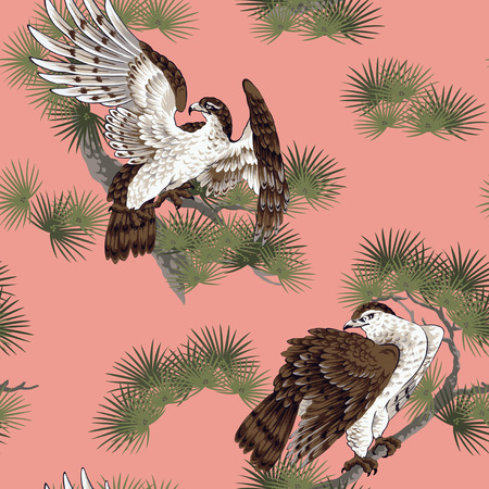 japanese painting: Japanese painting hawk