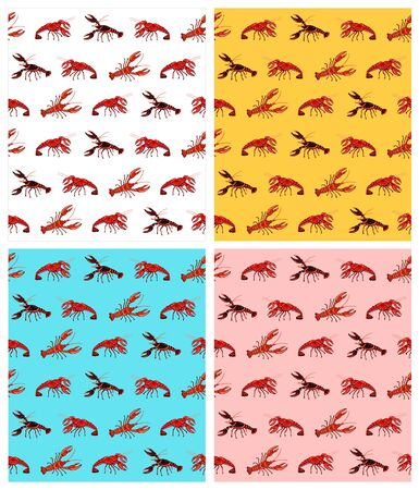crawfish: Crawfish pattern Stock Photo
