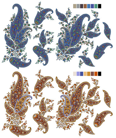 antique fashion: Paisley
