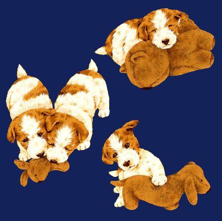 amiability: Illustration of dog Stock Photo