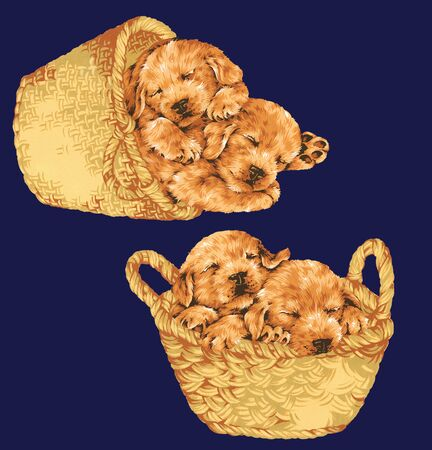 Illustration of dog Foto de archivo