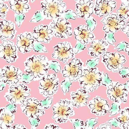 simplification: flower pattern