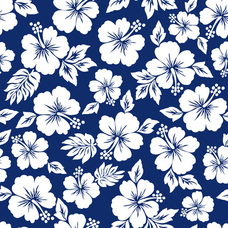 Motif de fleur d'hibiscus