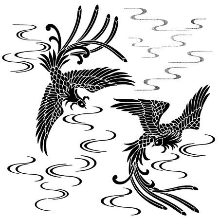 oriental vector: Oriental phoenix