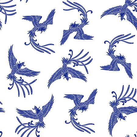 tatouage oiseau: Motif de phénix Oriental